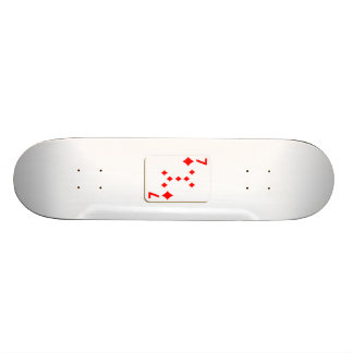 7 of Diamonds Playing Card Skate Board Decks