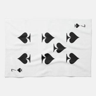 7 of Spades Hand Towel