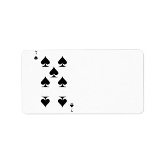 7 of Spades Label