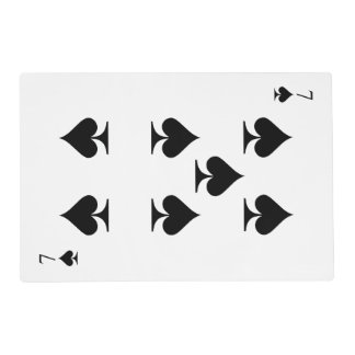 7 of Spades Placemat