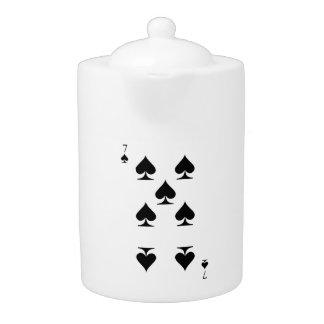 7 of Spades Teapot