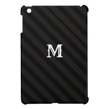 7 Option Black Stripes Modern Monogram Case For The iPad Mini