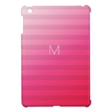 7 Option Modern Monogram Pink Party Stripes Hard Case For The iPad Mini