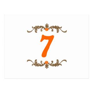 #7 Orange & Brown Scroll Postcard