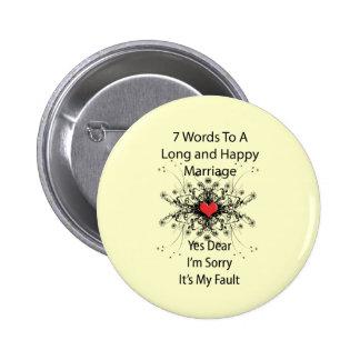 7 palabras a una boda larga pin redondo 5 cm