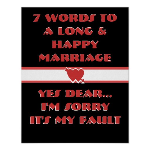 7 palabras a una boda larga y feliz - poster