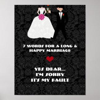 7 palabras a una boda larga y feliz sí estimada impresiones