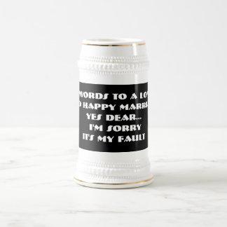 7 palabras a una boda larga y feliz - Stein Jarra De Cerveza