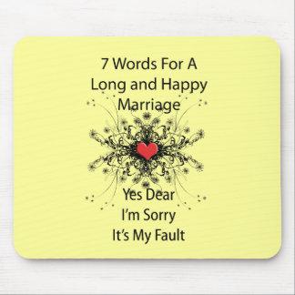 7 palabras para una boda larga alfombrilla de raton