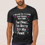 7 palabras para una boda larga y feliz - camisetas