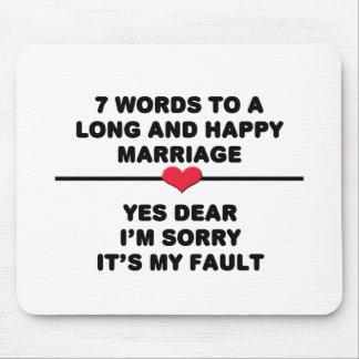7 palabras para una boda larga y feliz mousepads