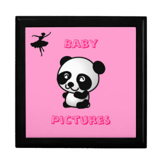 "7"" panda giftbox keepsake box"