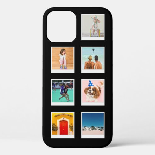 7 Photo Template Black Phone Case