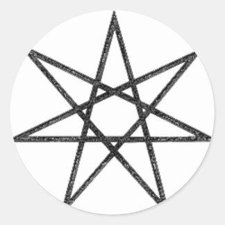 7 Pointed Star Classic Round Sticker