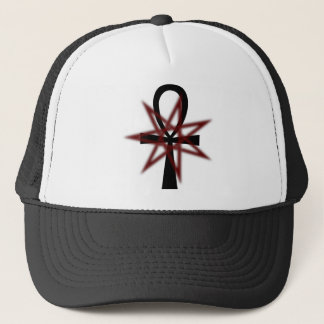 7 Pointed Star with Ankh Trucker Hat