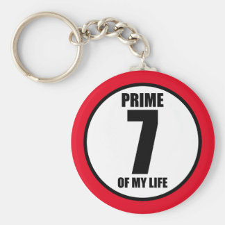 7 - prime of my life keychain