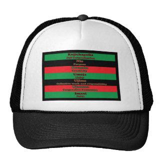 7 principios de gorra de Kwanzaa
