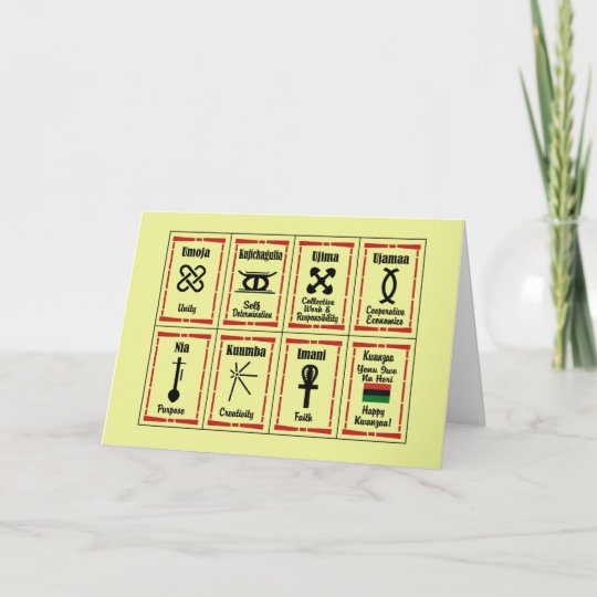 7 principles kwanzaa holiday greeting cards zazzle 7 principles kwanzaa holiday greeting cards m4hsunfo