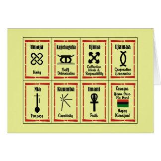 7 Principles Kwanzaa Holiday Notecards Card