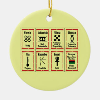 7 Principles Kwanzaa Holiday Ornaments