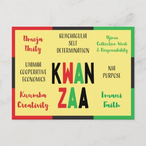 7 Principles Modern Kwanzaa Holiday Card