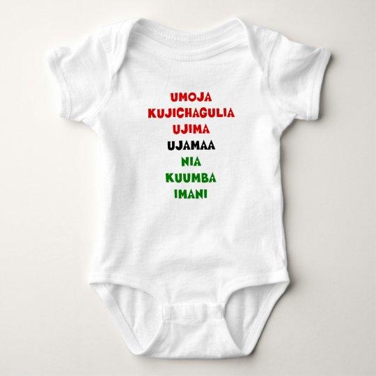 7 Principles of Kwanzaa Baby Bodysuit