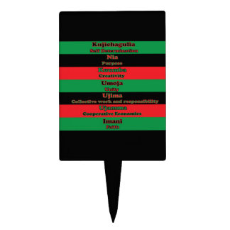 7 Principles of Kwanzaa Cake Topper