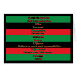 7 Principles of Kwanzaa Card