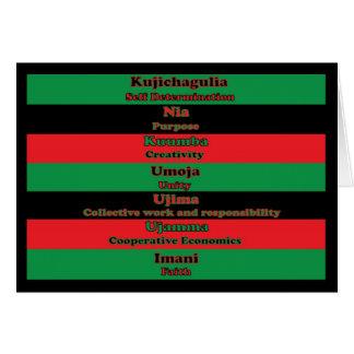 7 Principles of Kwanzaa Card