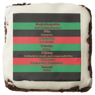 7 Principles of Kwanzaa Chocolate Brownie