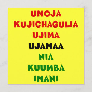 First fruits kwanzaa cards zazzle 7 principles of kwanzaa flat greeting card m4hsunfo