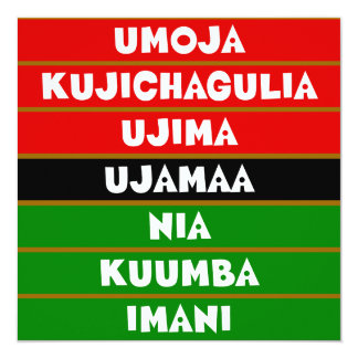 7 Principles of Kwanzaa Flat Greeting Card
