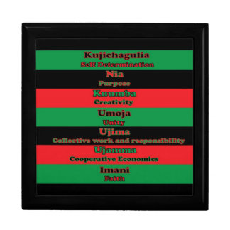7 Principles of Kwanzaa giftbox Jewelry Box