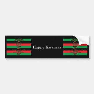 7 Principles of Kwanzaa (Horizontal) Bumper Sticker