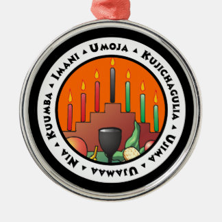 7 Principles of Kwanzaa Metal Ornament