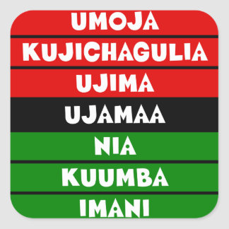 7 Principles of Kwanzaa Square Sticker