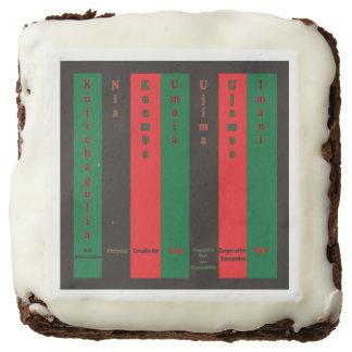 7 Principles of Kwanzaa (Vertical) Chocolate Brownie