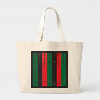 7 Principles of Kwanzaa (Vertical) Large Tote Bag