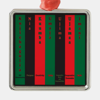 7 Principles of Kwanzaa (Vertical) Metal Ornament