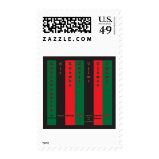 7 Principles of Kwanzaa (Vertical) Postage Stamp