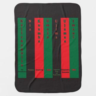 7 Principles of Kwanzaa (Vertical) Stroller Blanket