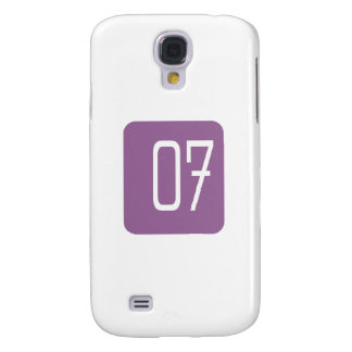 #7 Purple Square Galaxy S4 Case