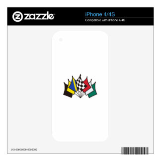 7 Racing Flags Skin For iPhone 4