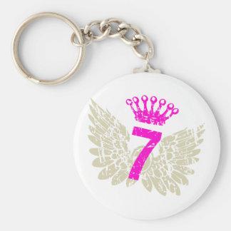 #7 Raspberry Wings Keychain