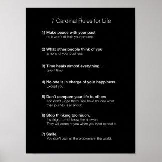 7 reglas cardinales para la vida impresiones