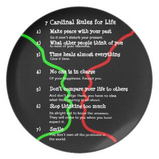 7 reglas cardinales para la VIDA Platos De Comidas