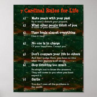 7 reglas cardinales para la VIDA Póster