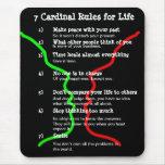 7 reglas cardinales para la VIDA Alfombrilla De Raton