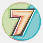 7 ROUND STICKERS