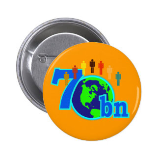 7 Seven Billion World Population Design Buttons